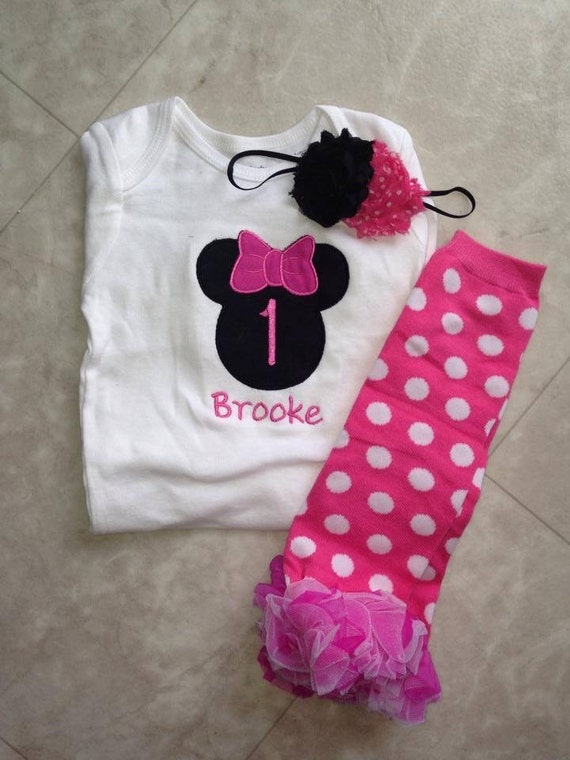 Items Similar To Hot Pink And Black Minnie Mouse Birthday