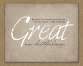 Great is Your Faithfulness // Digital Art Print // 8x10 // Instant Download