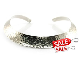 Silver Choker Nacklace Silver Hammered Necklace Silver Collar Necklace Hammered Silver Necklace Brass Choker Necklace Brass Necklace 074