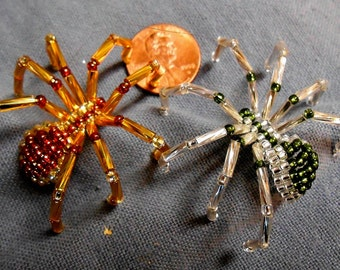Beaded Shield Spider pin accessory - medium