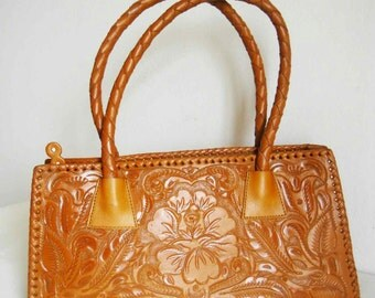 A -50% OFF in last piece! Brown leather hand bag!! Mexican Design!