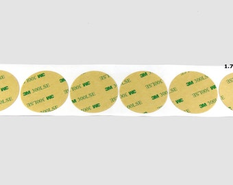 3M 9495LE Double Sided Tape - Sheet of six 1.75 Inch Circles - 300 LSE Adhesive - Waterproof - Very High Bond - All Plastic Types