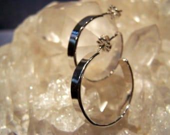 Sterling Silver Post Hoop Earrings ~Handmade~