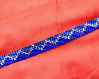 Cobalt and gold bracelet