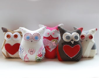 Little Owl Sewing PATTERN - Cute Craft Template -PDF