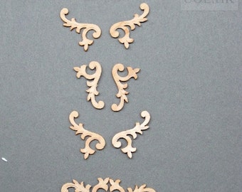 Doll house Woodworking Decorative Carved Trim [Unpainted]