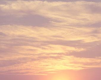 Pastel Sunset Color Photo Print { clouds, lavender, cream, purple, soft, sky, plum, pink, wall art, macro, nature & fine art photography }