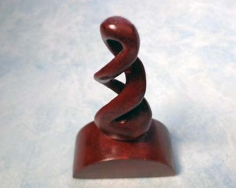 Wood double twist carving statue. W6