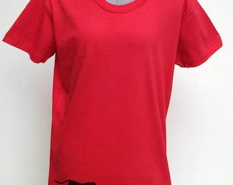 Women's Silkscreened Organic Cotton Fine Jersey- Short Sleeve Crew Tee Panther LARKSHAPES Tee