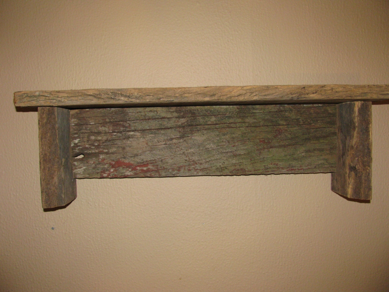 Barn Wood Shelves ~ Barn wood shelf barnwood primitive rustic by
