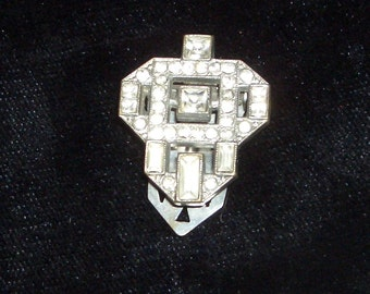 diamante lapel clip 1930s