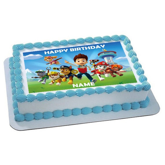 Items Similar To Paw Patrol Inspired Personalized Edible
