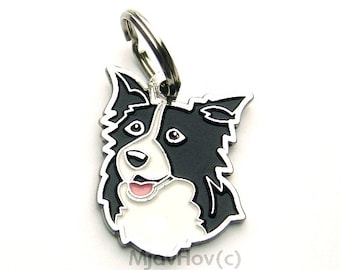 Custom engraved pet tag BORDER COLLIE
