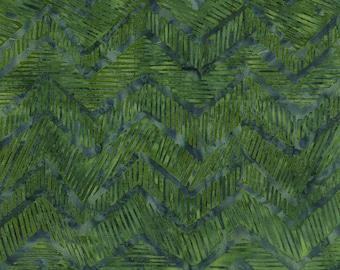 Timeless Treasures Jungle Green Zig Zag Batik Fabric by the Yard B1600-JNGL