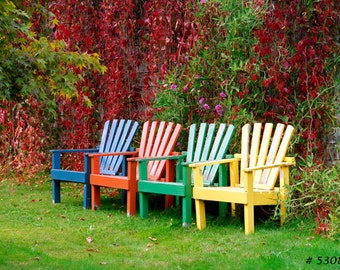 Lovely Outdoor Chairs, Fine Art photography, Colorful Home and Office wall decor photographic print