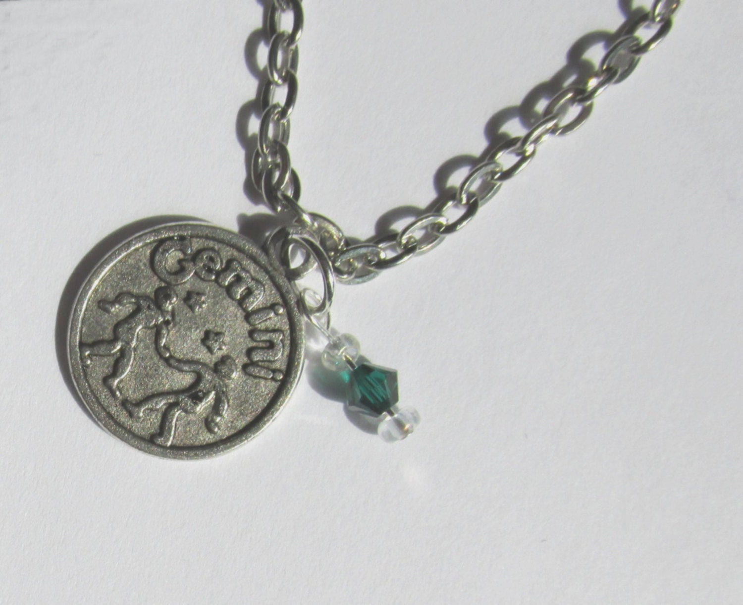 gemini birthstone necklace charm sun sign may or june