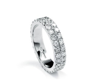 Double Row Full Circle Diamond Ring
