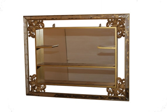 Mid Century Mirror Shadow Box By Turner Mfg. Co. Antique