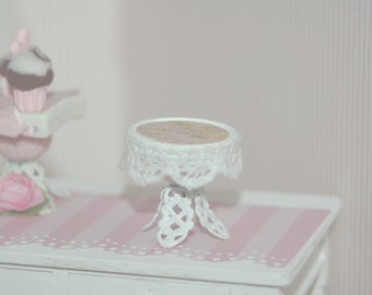 Shabby Cake Stand with Lace Trim