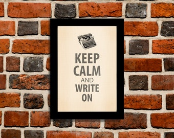 Keep Calm and Write On Poster - Vintage