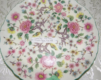 "James Kent Old Foley ""CHINESE ROSE"" Cake Plate"