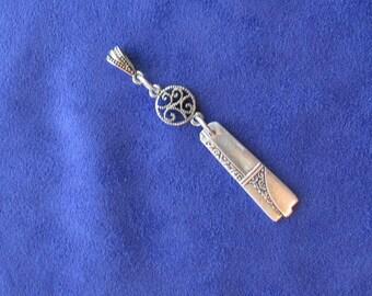 Spoon Jewelry,Spoon Pendant,Silverware Jewelry,Pendants,Gift,Birthday,(Item P0050)