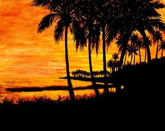 2. Sunset at Savaii, Samoa.