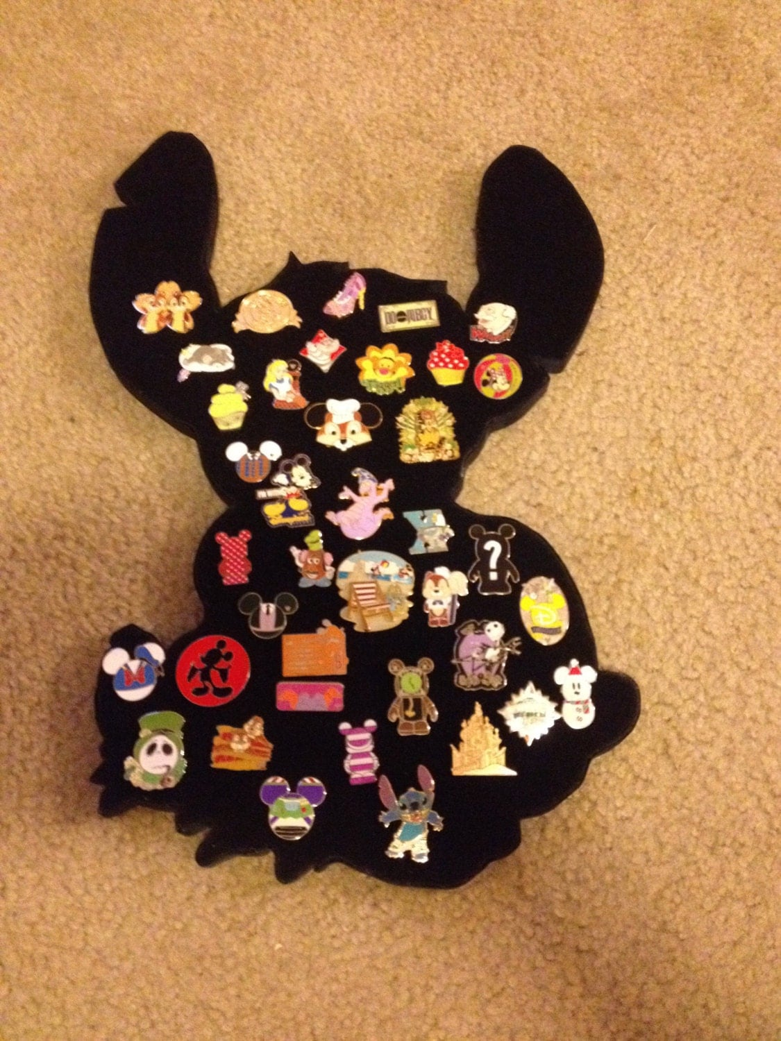 Stitch Disney Pin Collector Display Can Hold About 45 Pins