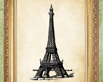 Eiffel Tower Print French Art Print Paris Art Wall Decor