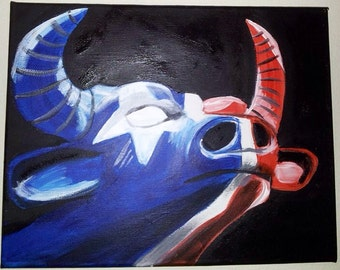Bulls on Parade-Houston Texans Painting