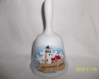 Rockport Massachusetts Ceramic Bell