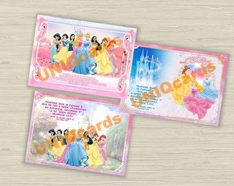 Disney Princess, Princess birthday, Princess invitation, Princess party, birthday invitation, Princess birthday invitation