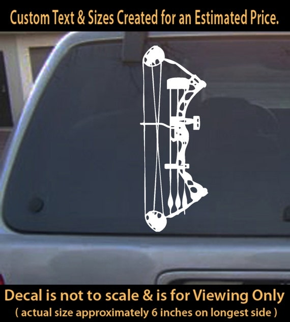 Compound Bow Archery Hunter Decal Sticker Free Shipping To - Bow hunting decals for trucks