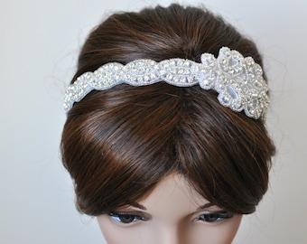 Wedding headpiece, headband, CHLOE, Rhinestone Headband, Wedding Headband, Bridal Headband, Bridal Headpiece, Rhinestone