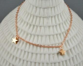 stars rose gold plated bracelet