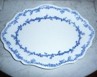 Antique Flow Blue Porcelaine Service Platter  - WH Grindley - Aldine – circa 1890