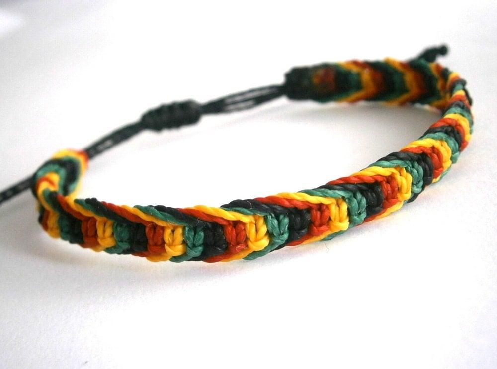 rasta bracelet macrame bracelet surf by ancientmacrame on etsy