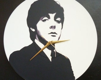 Paul McCartney – The Beatles – 12″ Vinyl Record Wall Clock