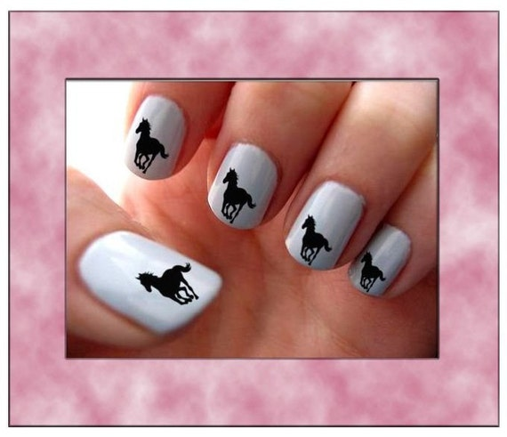 Western Nail Art: Items Similar To Horse Running Nail Art Water Slide