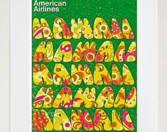 Hawaii Wall Art Print Hawaiian Vintage Travel Poster (TR72)