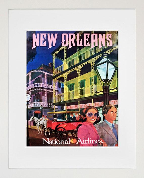 Wall Art New Home : New orleans travel poster wall art print home decor zt