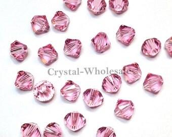 Light Rose (223) Swarovski Elements 5328 / 5301 6mm Crystal Xilion Bicone Beads ** FREE Shipping