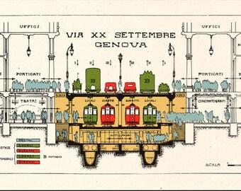 GENOVA - Via XX Settembre - progetto metropolitana