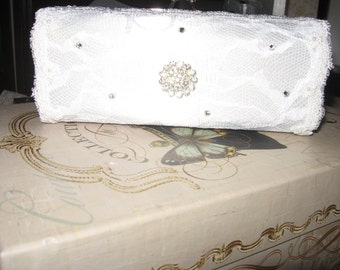 Handmade Bridal clutch - new with box