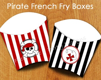 Pirate French Fry Box - Instant Download