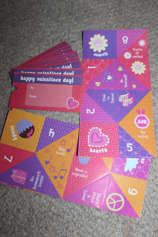 origami cootie catcher valentine's day card