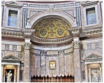 The Pantheon Roman fine art print photography Rome Italy Pantheon history 8x10 print, Roman Pantheon