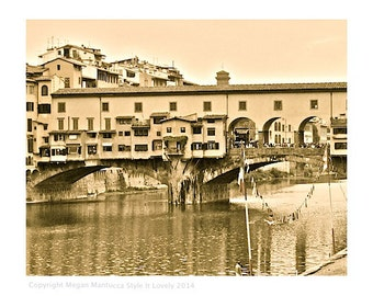 Ponte Vecchio Florence Italy Photography, 8x10 Italy print, Florence, fine art print