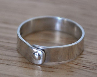 5) 5mm Polished Sterling Silver Rivet Ring