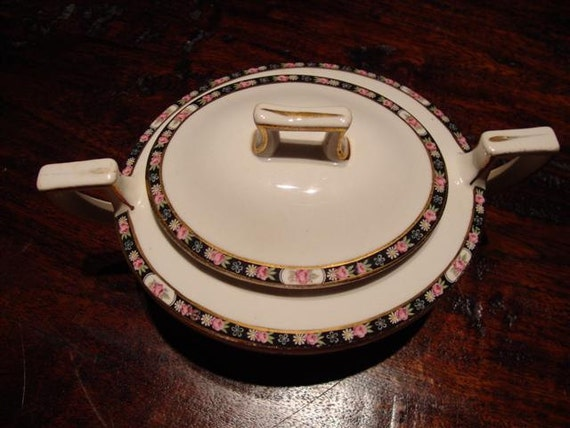 Homer Laughlin Antique China Sugar Bowl